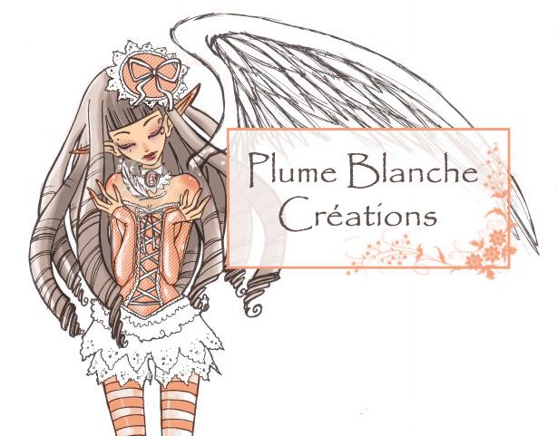 Logo Plume Blanche Créations par Mercredy Lunaris